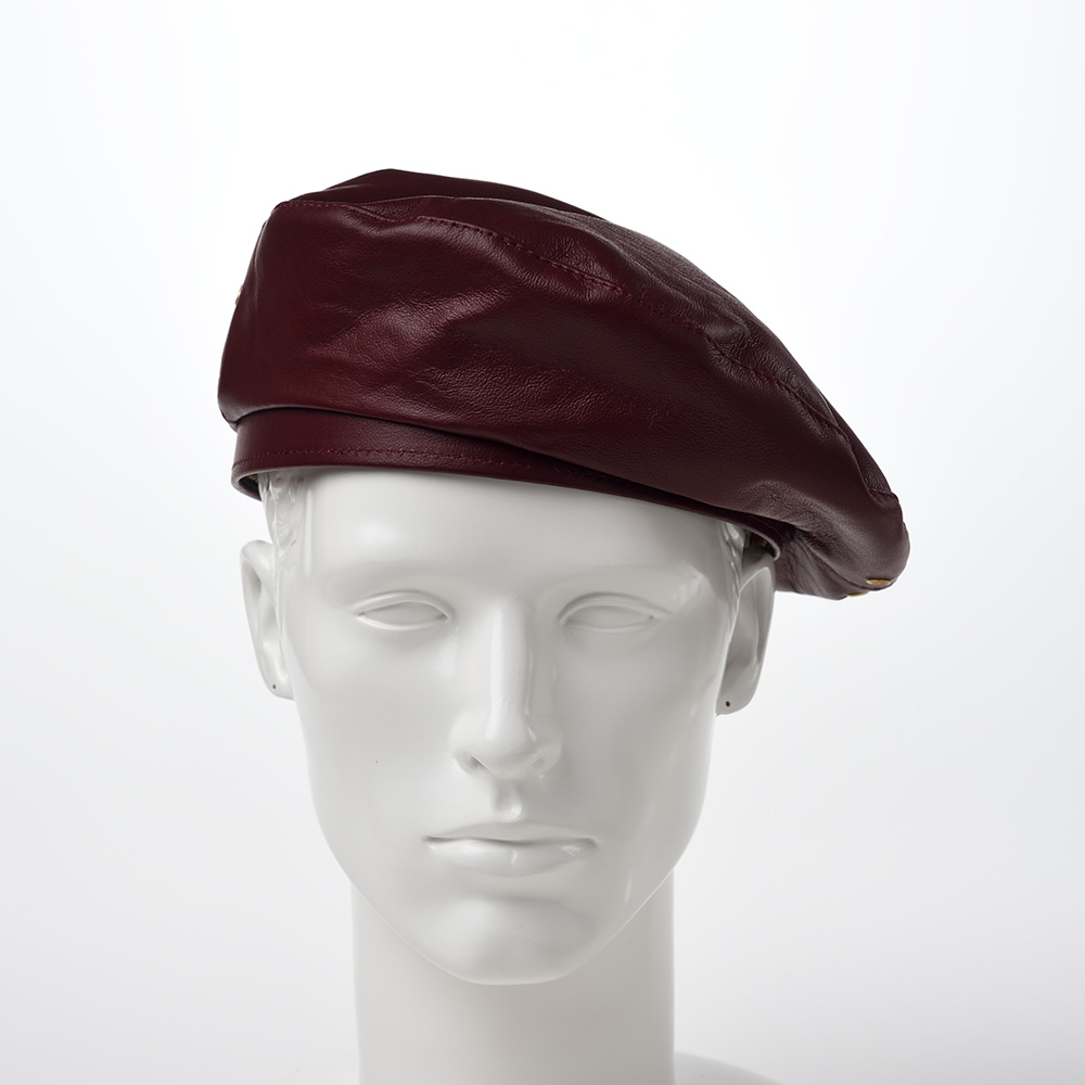Rebel Leather Beret(リベルレザー ベレー)Burgundy